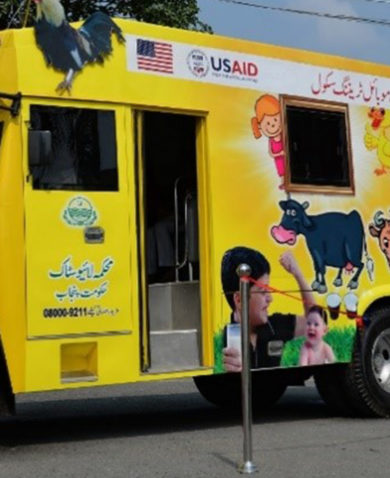 The Pakistan PEEP mobile training bus