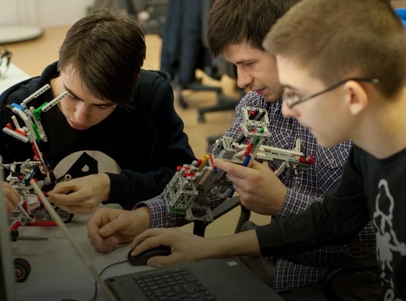 Youth study robotics