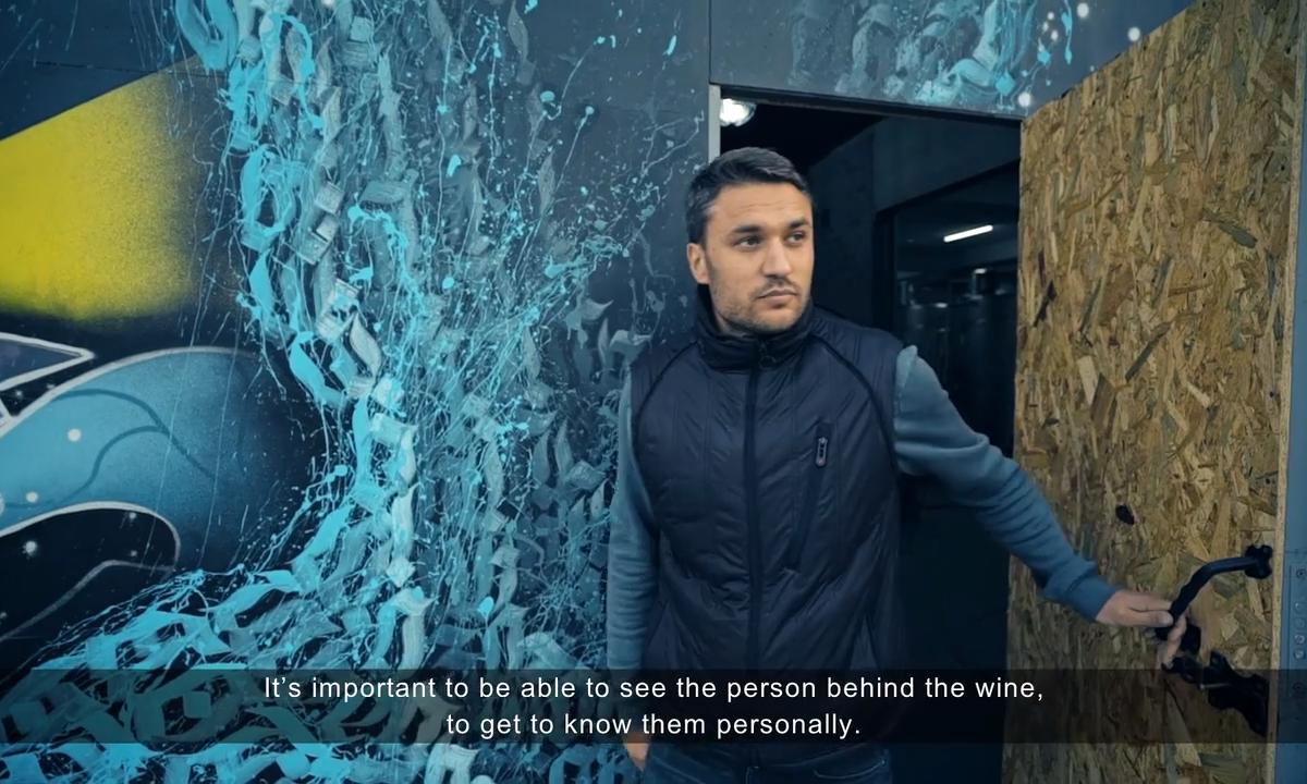 entrepreneur Victor Vutcarau leaving the winery