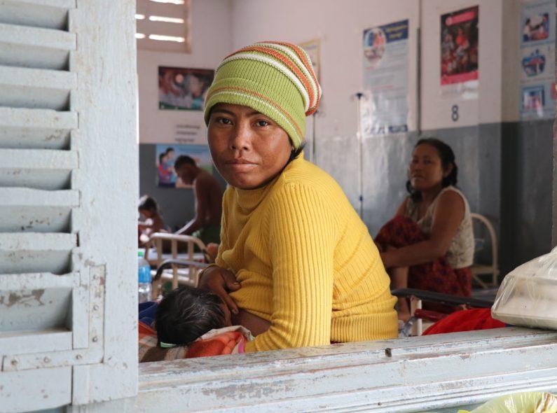 Breastfeeding mother in Cambodia