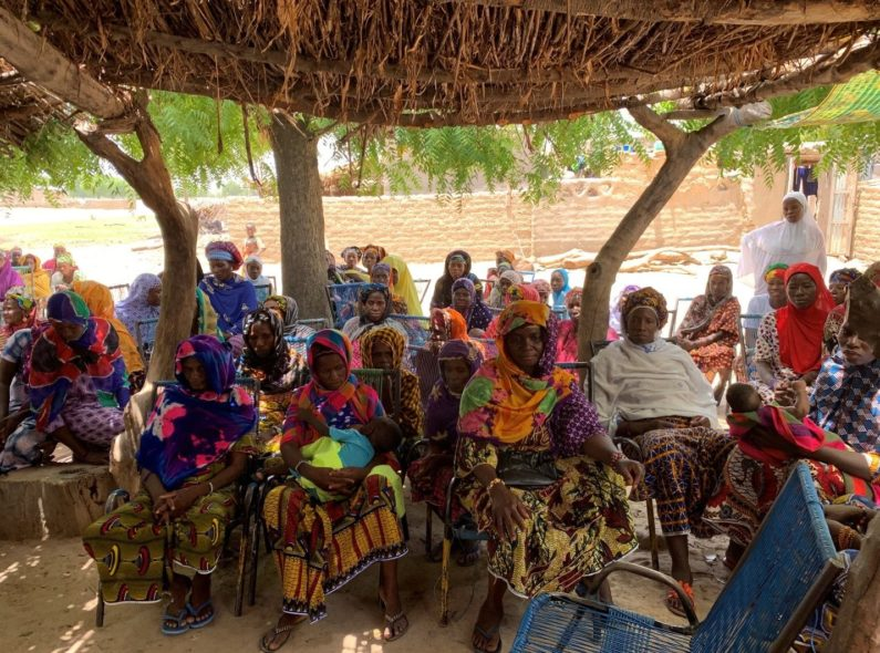 Women's group meeting in Mali