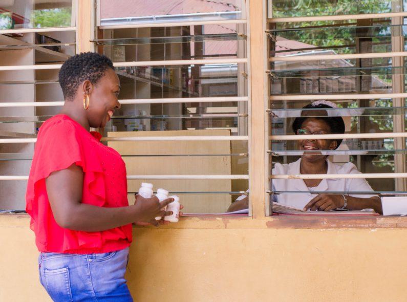 Botswana pharmacist and patient