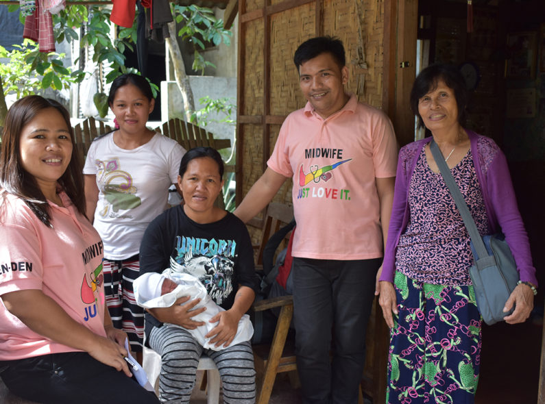 Jacinto and Marie Rose with a patient and their family