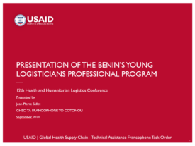 Benin's Young Logisticians Professional Program presentation thumbnail