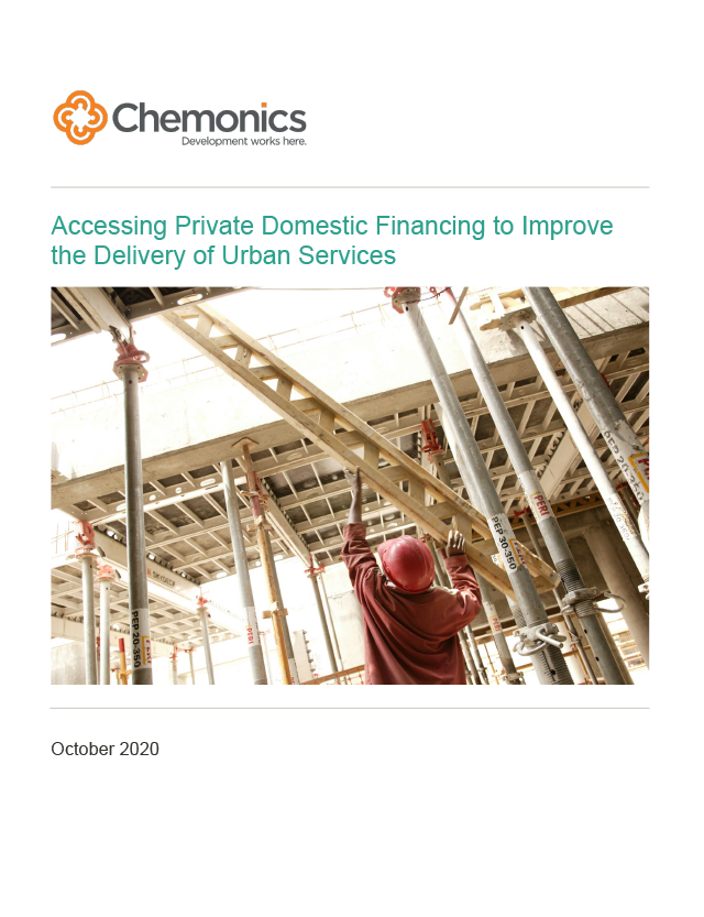 "Thumbnail image of the paper ""Accessing Private Domestic Financing to Improve the Delivery of Urban Services"""