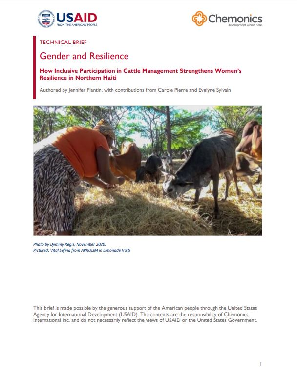 How Inclusive Participation in Cattle Management Strengthens Women's Resilience in Northern Haiti thumbnail