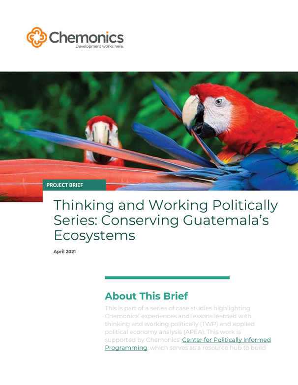 Cover for Conserving Guatemala's Ecosystem