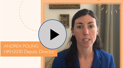 """HRH2030 Deputy Director Andrea Poling explains the benefits of training youth for careers in health during """"Six Years in 60 Minutes: Learning from the HRH2030 Program."""""""