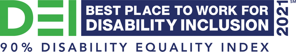 """""""Best Places to Work for Disability Inclusion"""" logo"""