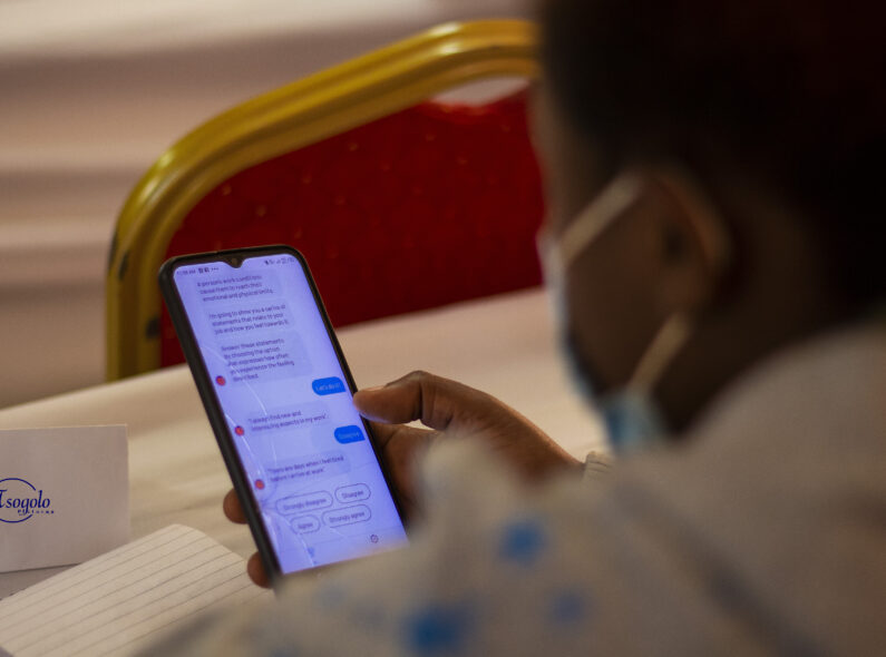 The Vitalk mobile application, pictured, is being adapted for use in sub-Saharan Africa in collaboration with HRH2030. Learn more about the application, which won the HRH2030 Health Workforce Resilience Prize, here. Credit: HRH2030