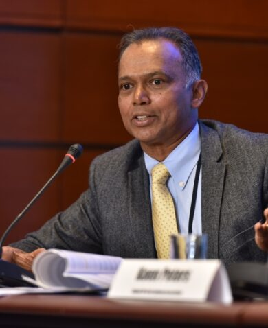 Matthew Mendis at a conference