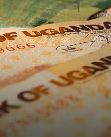close-up shot of Ugandan shillings